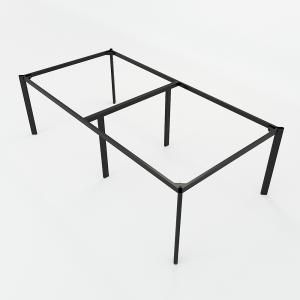 BFCBOV18 - Chân bàn cụm 4 sắt Oval 120x240cm