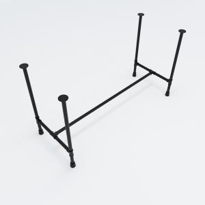 CBPP003- Chân bàn ống nước sắt tiện ren 60x140x730cm