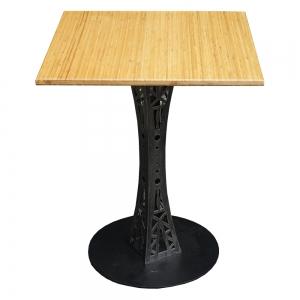 CFB012 - Bàn CafeBamboo vuông 60cm chân sắt hoa văn