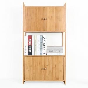 BFKS033 - Kệ tủ trang trí 2 gian tủ gỗ tre 58x32x140cm