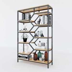 BFKS004 - Kệ trang trí gỗ tre khung sắt 30x100x160cm