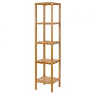 BFKS027 - Kệ trang trí 5 tầng gỗ tre 33x33x146cm