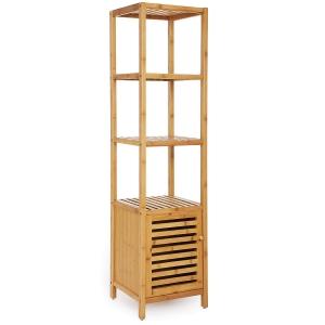 BFKS024 - Kệ trang trí có tủ gỗ tre 34x33x145cm