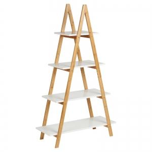 BFKS030 - Kệ trang trí hình thang gỗ tre 80x32,5x137cm