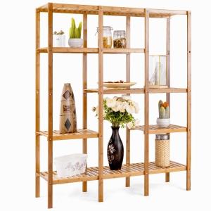 BFKS021 - Kệ trang trí gỗ tre 115x32x140cm