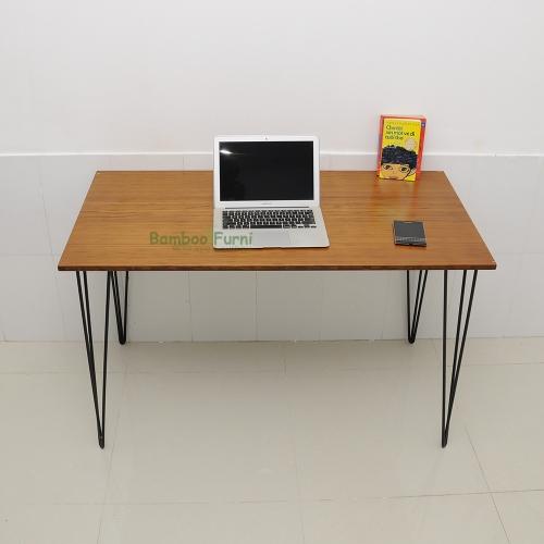 bàn làm việc ván tre