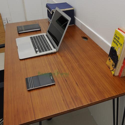 mặt bàn làm việc gỗ tre ghép