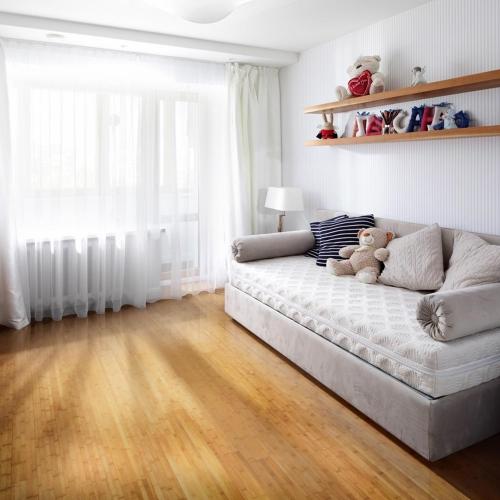sàn gỗ tre màu sáng tự nhiên rất đẹp