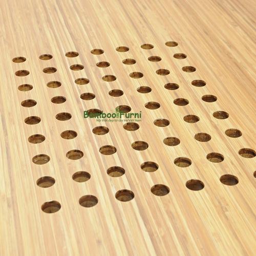 Bàn công nghệ gỗ tre zBamboo màu tự nhiên chân L