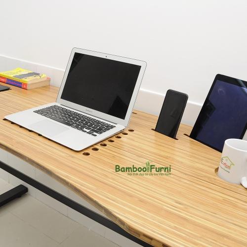 ZB001- Bàn công nghệ gỗ tre zBamboo màu tự nhiên chân L