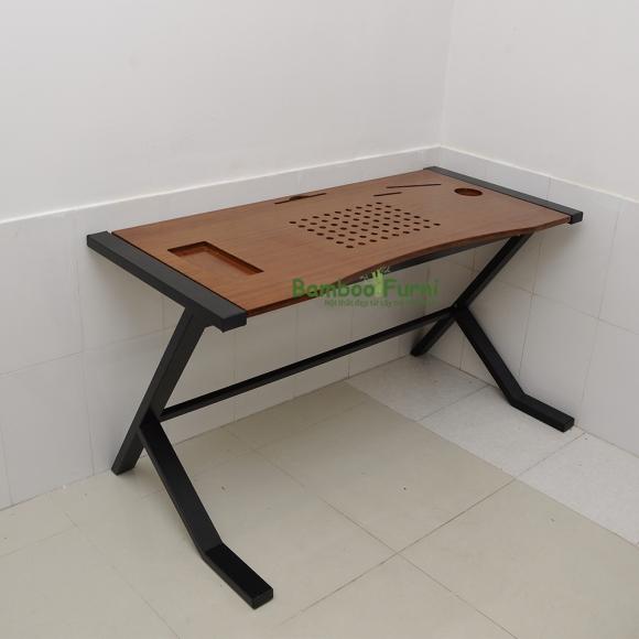 ZB010b - Bàn công nghệ gỗ tre ghép chân nhật tự - 120x60x75 (cm)