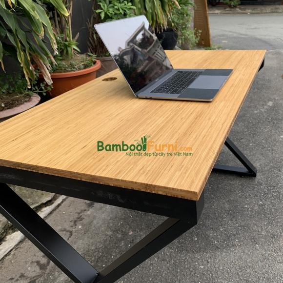 BFXB002 - Bàn làm việc XBamboo 120x60cm chân sắt lắp ráp