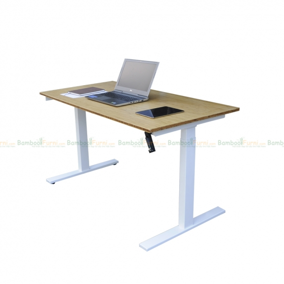 FB004 - Bàn điều chỉnh chiều cao FlexiBamboo tay quay - 120x60 (cm)