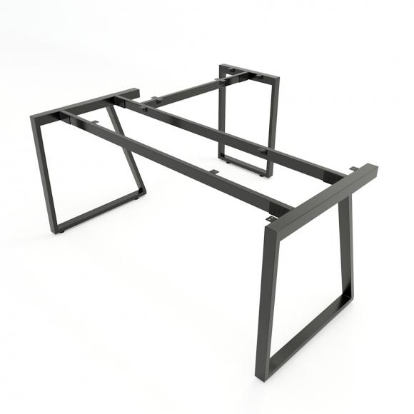 CBTH019 - Chân bàn chữ L 160x150 hệ Trapeze II Concept lắp ráp