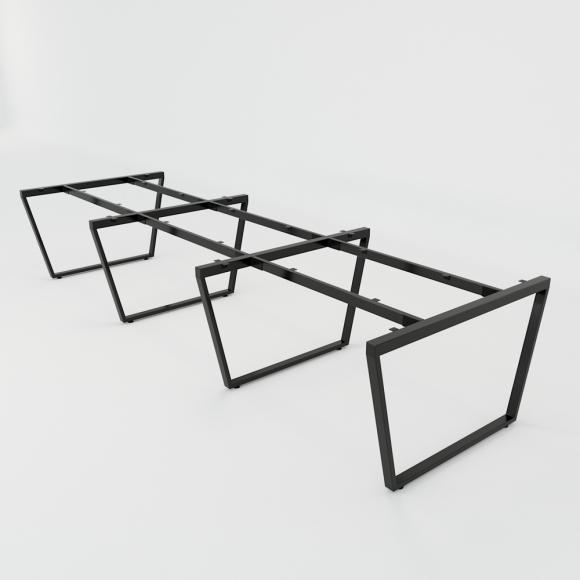 CBTC016 - Chân bàn cụm 6 360x120 Trapez Concept lắp ráp
