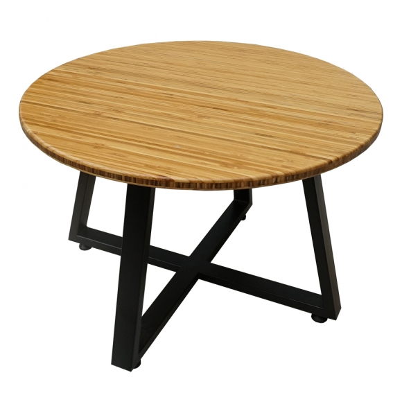 TB011 - Bàn Sofa TeaBamboo tròn 60cm chân sắt
