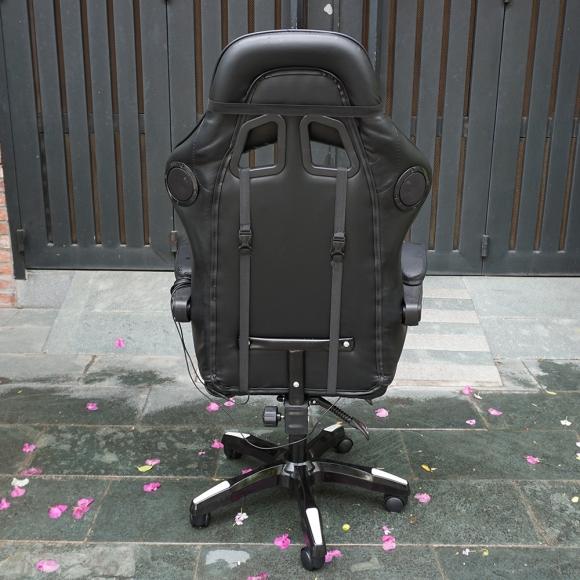 GC002 - Ghế game thủ Full đen có thể ngả nằm có loa BlueTooth