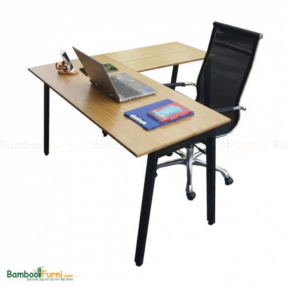 BFCB009 - Combo bàn làm việc AtonBamboo chữ L và ghế lưới