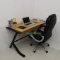 phòng làm việc trở nên sang trọng với chất liệu gỗ tre