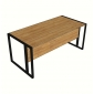 BFBLV003 - Bàn làm việc chân sắt viền gỗ tre ép 1.6m x80cm x75cm