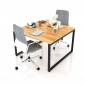 BFCBCN04 - Chân bàn làm việc sắt 25x50 kích thước 120x120 (cm)