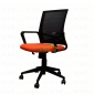 Ghế văn phòng lưới chân xoay màu cam đen