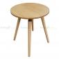 CFB006- Bàn CafeBamboo tròn 60cm màu tự nhiên chân gỗ