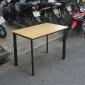 BFOB001 - Bàn làm việc Oval Bamboo 100x60cm chân sắt lắp ráp