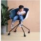 BFG047 - Ghế tựa lưng HAY lót nệm chân sắt có bánh xe
