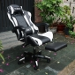 GC001 - Ghế game thủ trắng đen ngả nằm có loa Bluetooth