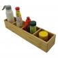 BFPT004- Khay để gia vị gỗ tre ép 4 ngăn