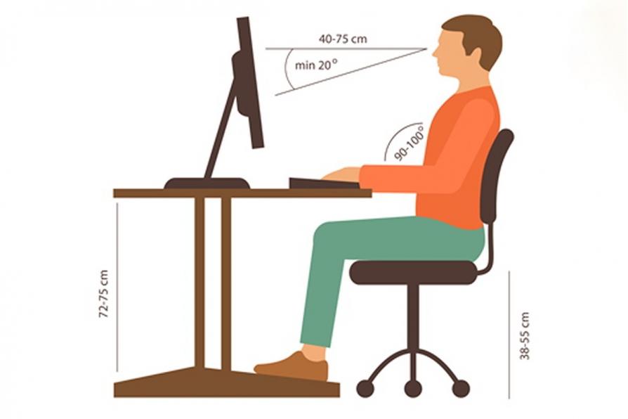Mẹo nhỏ giúp bạn tư thế ngồi làm việc đúng chuẩn không mỏi mệt cho dân văn phòng